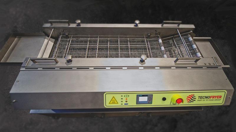 La freidora industrial automática de la gama frye están especialmente diseñadas para producciones medias de producto de gran consumo.